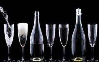 drink wine-glass-champagne bottle