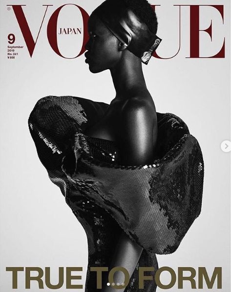 adut-akech-vogue-japan-sudanese model adut akech covers vogue japan 20th anniversary-september issue vogue japan