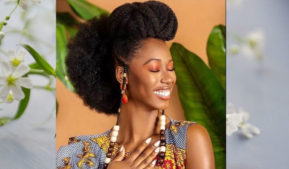 beautiful-african-girl with natural hair-fulani hairstyles-femme noire belle coiffure afro