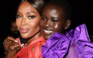 DZALEU.COM : African Lifestyle Magazine - Black celebrities : Naomi Campbell & Adut Akech (Fashion For Relief Show, London)