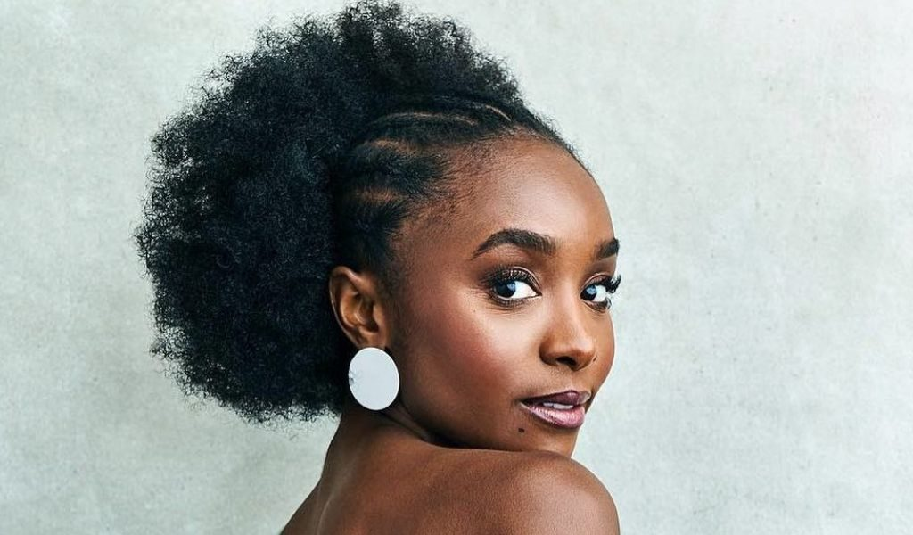 The Timeless Bun Made By African Braids And Afro Puff