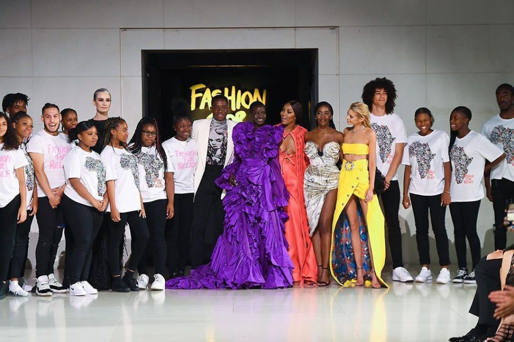 DZALEU.COM : African Lifestyle Magazine - Black celebrities : Naomi Campbell Fashion For Relief Show 2019, London