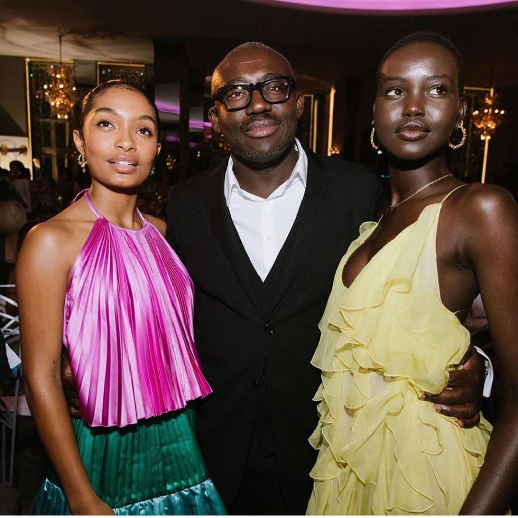 DZALEU.COM : African Lifestyle Magazine - African diaspora & Wealth : Edward Enninful, Vogue British Editor-in-chief with Adut Akech, Yara Shahidi