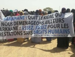 Mali : Une manifestation contre la présence française (opération Barkhane)