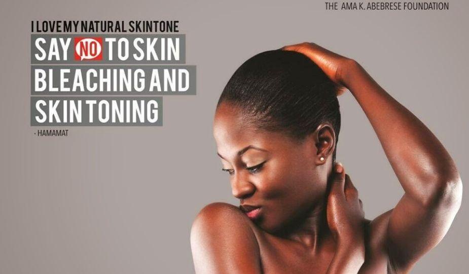"La campagne ""Say NO To Skin Bleavhing And Skin Toning"" de l'actrice Ama K. Abebrese (Ghana)"