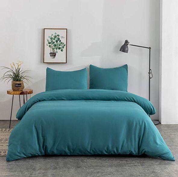 Déco chambre : draps bleus