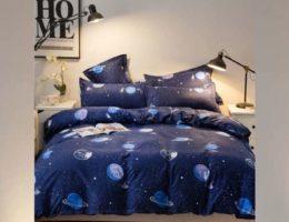 Déco chambre : literie en bleu