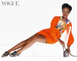 Lupita Nyong'o pose pour Vogue British